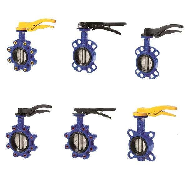 Dreiespjeld-Butterfly ventiler